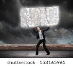 image of young businesswoman... | Shutterstock . vector #153165965