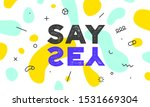 say yes. banner  poster and... | Shutterstock .eps vector #1531669304