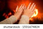 Closeup Photo Of Female Hands...
