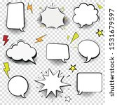 speech bubble thin line icon... | Shutterstock .eps vector #1531679597