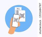qr code verification. scan qr... | Shutterstock .eps vector #1531684787