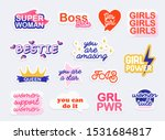 collection of stickers with... | Shutterstock .eps vector #1531684817