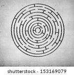 Round Maze Against White...
