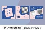 set of editable square banner... | Shutterstock .eps vector #1531694297
