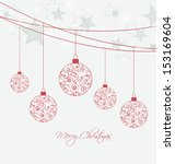 christmas background with... | Shutterstock .eps vector #153169604