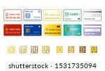 credit card vector icon set...   Shutterstock .eps vector #1531735094