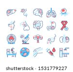 cancer different organs line... | Shutterstock .eps vector #1531779227