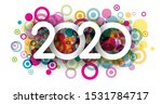 white happy new year 2020... | Shutterstock .eps vector #1531784717