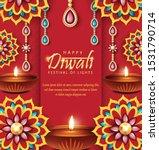 diwali festival holiday design. ... | Shutterstock .eps vector #1531790714