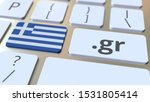 Greek Domain .gr And Flag Of...