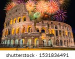 Fireworks In Roma  Italia  Rom...