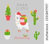 christmas llama vector... | Shutterstock .eps vector #1531847957