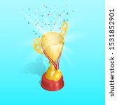 championship cup with gold... | Shutterstock .eps vector #1531852901