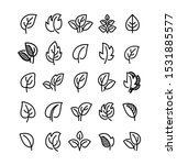 simple leaf line icons  symbols ... | Shutterstock .eps vector #1531885577