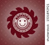 happy face icon inside red icon ...   Shutterstock .eps vector #1531892921
