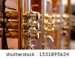 Close Up On A Valve Section Of...