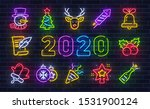 christmas icon set. merry... | Shutterstock .eps vector #1531900124