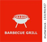 barbecue grill symbol. outline... | Shutterstock .eps vector #1531901927