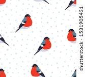 seamless pattern with bullfinch ... | Shutterstock .eps vector #1531905431