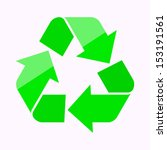 vector recycle symbol | Shutterstock .eps vector #153191561