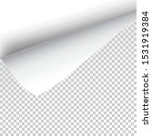 sheet of paper with curled... | Shutterstock .eps vector #1531919384