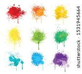 vector paint splats art on... | Shutterstock .eps vector #1531945664