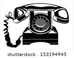 old black phone. vector... | Shutterstock .eps vector #153194945