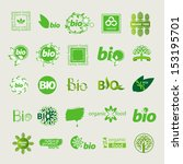 collection of vector eco sign | Shutterstock .eps vector #153195701