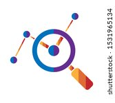 financial analysis icon design...