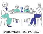 retired people flat vector... | Shutterstock .eps vector #1531973867