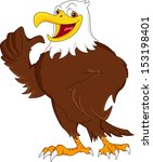 eagle cartoon thumb up | Shutterstock . vector #153198401