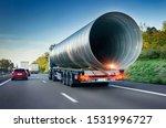 Heavy Freight Truck on highway - stock photo