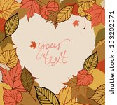 vector background with autumn... | Shutterstock .eps vector #153202571