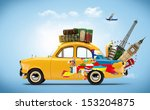 traveling by car. famous... | Shutterstock . vector #153204875
