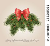 christmas decorative wreath.... | Shutterstock .eps vector #153205091