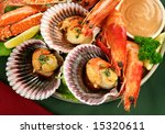 Fresh Seafood Platter Of Cooked ...