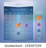 vector web an ui calendar....