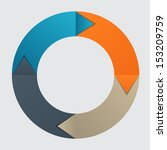 infographic business template ...   Shutterstock . vector #153209759