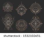 vector set of sacred geometric... | Shutterstock .eps vector #1532102651