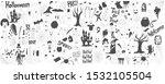 halloween drawings vector set... | Shutterstock .eps vector #1532105504