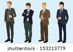 teen boys wearing suits | Shutterstock .eps vector #153213779