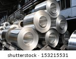 rolls of aluminum sheet   Shutterstock . vector #153215531