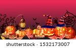 halloween day for design banners | Shutterstock . vector #1532173007