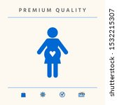 pregnant woman icon with heart. ...   Shutterstock .eps vector #1532215307