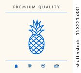 pineapple icon  elements for...   Shutterstock .eps vector #1532215331