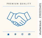 handshake line icon. graphic... | Shutterstock .eps vector #1532221631
