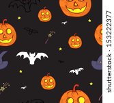 vector seamless halloween... | Shutterstock .eps vector #153222377