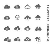 simple icon set related to... | Shutterstock .eps vector #153223451