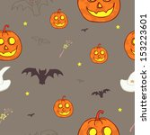vector seamless halloween brown ... | Shutterstock .eps vector #153223601