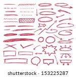 set of graphic signs. vector... | Shutterstock .eps vector #153225287